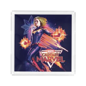 Captain Marvel | Sparkling Light Trail Graphic Acrylic Tray
