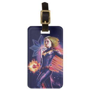 Captain Marvel   Sparkling Light Trail Graphic Bag Tag