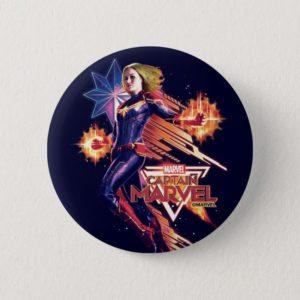 Captain Marvel   Sparkling Light Trail Graphic Button