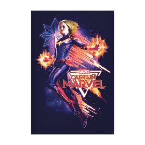 Captain Marvel | Sparkling Light Trail Graphic Canvas Print