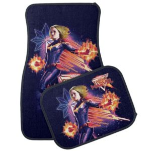 Captain Marvel | Sparkling Light Trail Graphic Car Floor Mat