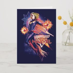 Captain Marvel   Sparkling Light Trail Graphic Card