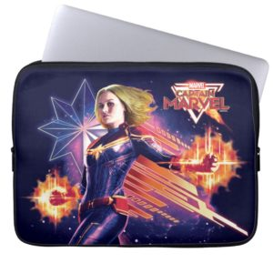 Captain Marvel | Sparkling Light Trail Graphic Computer Sleeve