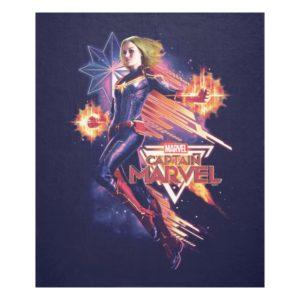 Captain Marvel | Sparkling Light Trail Graphic Fleece Blanket