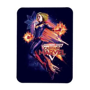 Captain Marvel   Sparkling Light Trail Graphic Magnet