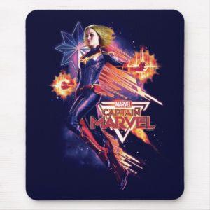 Captain Marvel | Sparkling Light Trail Graphic Mouse Pad