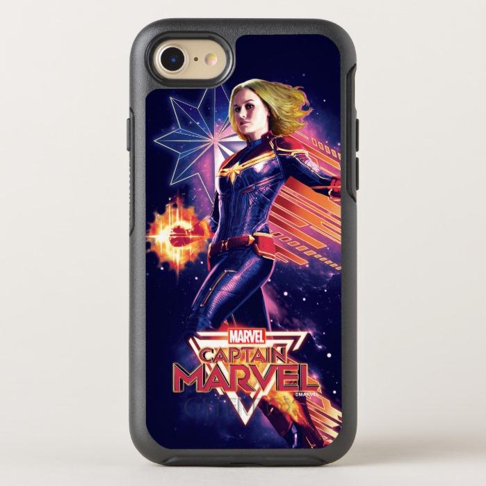 hot sale online ac54d 6323d Captain Marvel | Sparkling Light Trail Graphic OtterBox iPhone Case