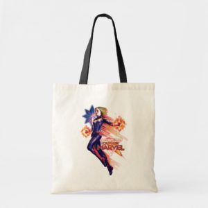 Captain Marvel | Sparkling Light Trail Graphic Tote Bag