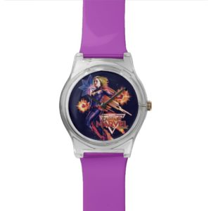 Captain Marvel | Sparkling Light Trail Graphic Watch