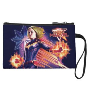 Captain Marvel   Sparkling Light Trail Graphic Wristlet