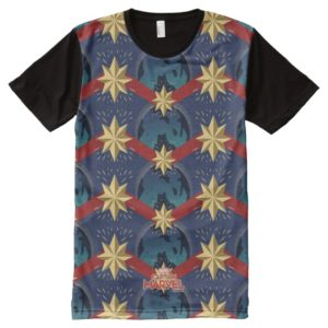 Captain Marvel | Star Logo Over Planet Pattern All-Over-Print Shirt