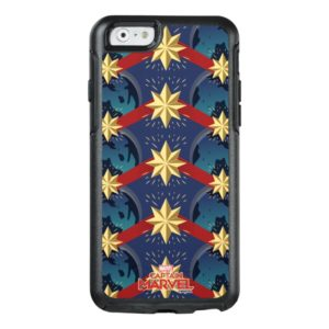 Captain Marvel | Star Logo Over Planet Pattern OtterBox iPhone Case