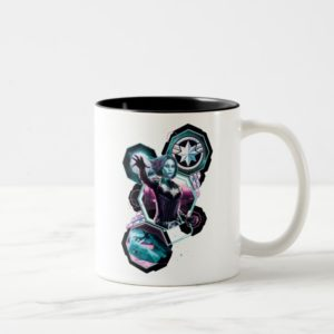 Captain Marvel   Starforce Captain Marvel Graphic Two-Tone Coffee Mug