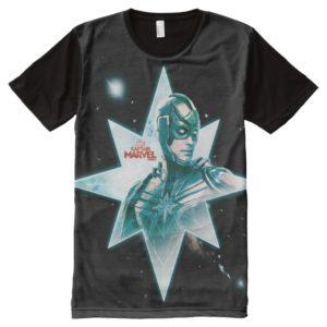 Captain Marvel | Starforce Commander All-Over-Print Shirt