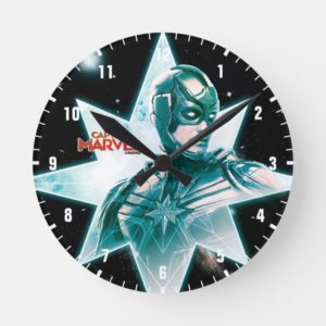 Captain Marvel   Starforce Commander Round Clock