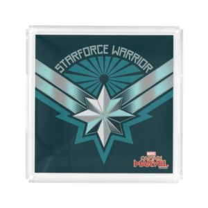 Captain Marvel | Starforce Warrior Star Embelm Acrylic Tray