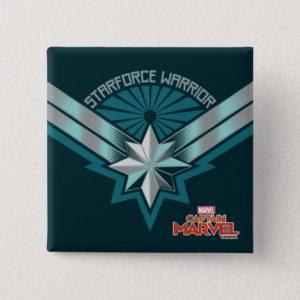 Captain Marvel | Starforce Warrior Star Embelm Button