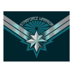 Captain Marvel   Starforce Warrior Star Embelm Postcard