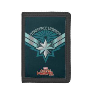 Captain Marvel   Starforce Warrior Star Embelm Trifold Wallet
