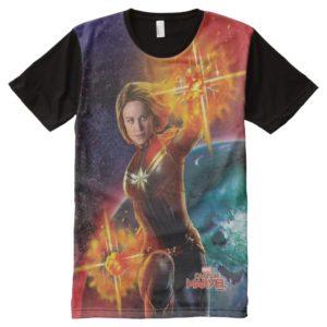 Captain Marvel | Stellar Engery Hand Raised All-Over-Print Shirt