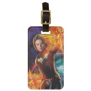 Captain Marvel | Stellar Engery Hand Raised Bag Tag