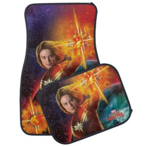 Captain Marvel | Stellar Engery Hand Raised Car Floor Mat