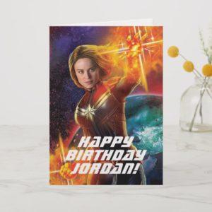 Captain Marvel | Stellar Engery Hand Raised Card
