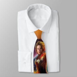 Captain Marvel | Stellar Engery Hand Raised Neck Tie