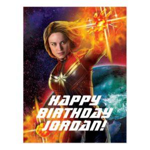 Captain Marvel | Stellar Engery Hand Raised Postcard