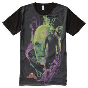 Captain Marvel | Talos Smokey Character Graphic All-Over-Print Shirt