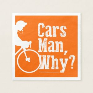 Cars Man, Why? Paper Napkin