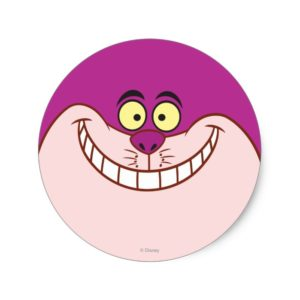 Cheshire Cat Face Classic Round Sticker