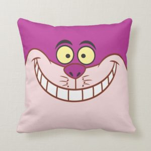 Cheshire Cat Face Throw Pillow
