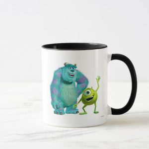 Classic Mike & Sully Waving Disney Mug