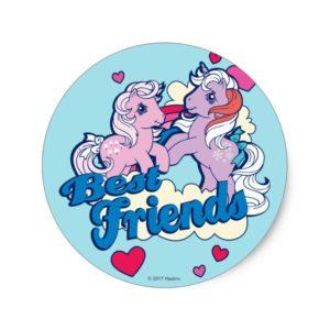 Classic My Little Ponies | Best Friends Classic Round Sticker