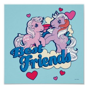 Classic My Little Ponies | Best Friends Poster