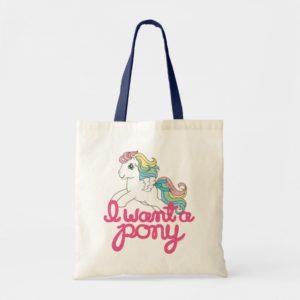 Classic My Little Pony | I Want a Pony Script Tote Bag