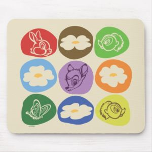 Colorful Bambi, Flower, & Thumper Mouse Pad