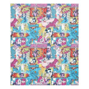 Comic Pattern Fleece Blanket
