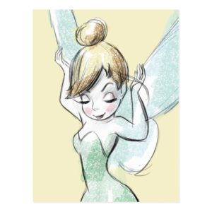 Confident Tinker Bell Postcard
