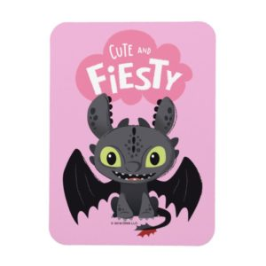 """""""Cute And Fiesty"""" Toothless Graphic Magnet"""