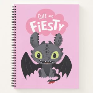 """Cute And Fiesty"" Toothless Graphic Notebook"