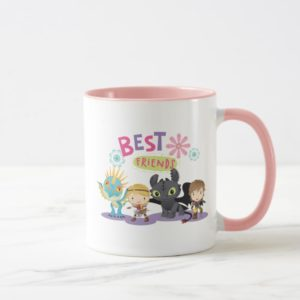 "Cute ""Best Friends"" Hiccup & Astrid With Dragons Mug"