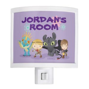 """Cute """"Best Friends"""" Hiccup & Astrid With Dragons Night Light"""