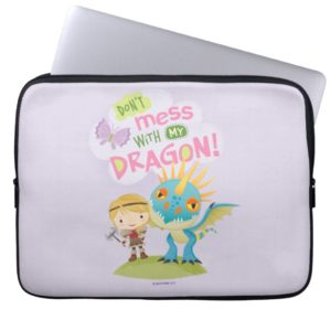 """Cute """"Don't Mess With My Dragon"""" Astrid & Stormfly Computer Sleeve"""