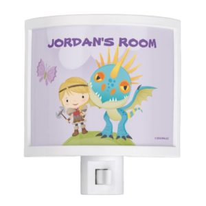 """Cute """"Don't Mess With My Dragon"""" Astrid & Stormfly Night Light"""