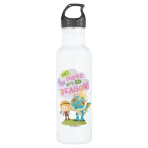 """Cute """"Don't Mess With My Dragon"""" Astrid & Stormfly Stainless Steel Water Bottle"""
