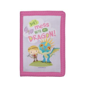"""Cute """"Don't Mess With My Dragon"""" Astrid & Stormfly Trifold Wallet"""