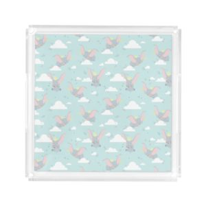 Cute Dumbo Blue Tribal Pattern Acrylic Tray