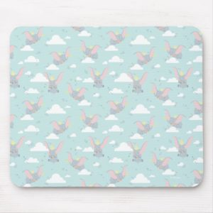 Cute Dumbo Blue Tribal Pattern Mouse Pad